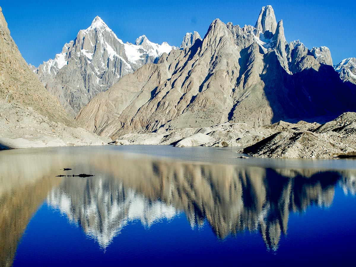 Glacier Lake and Paiju Peak on K2 Base Camp and Concordia Trek in Pakistan