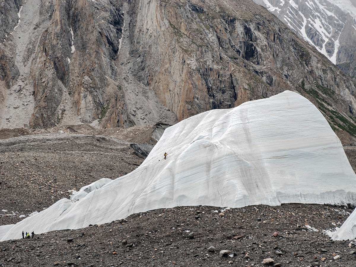 Ice Cubes of Baltoro Glacier on K2 Base Camp and Concordia Trek in Pakistan