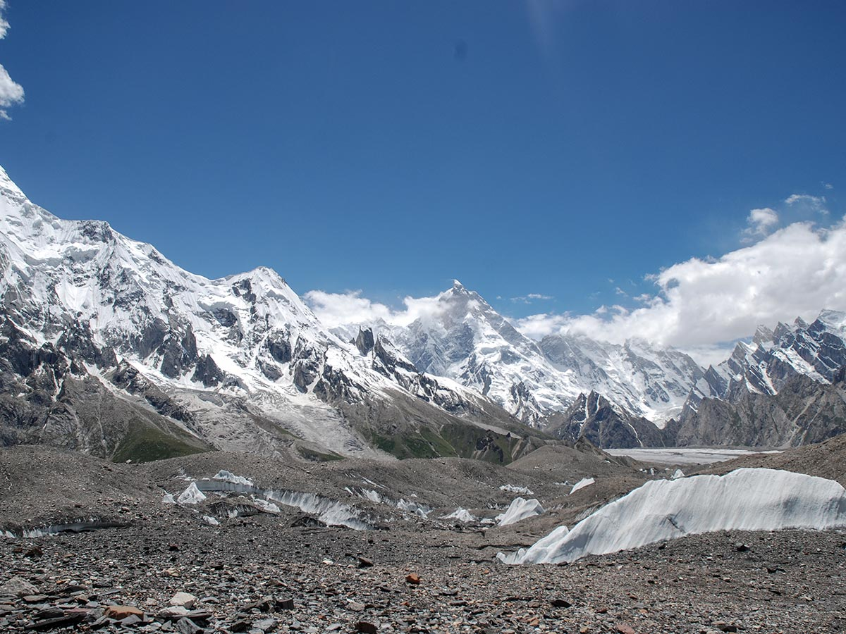 Masherbrum Range on K2 Base Camp and Concordia Trek in Pakistan