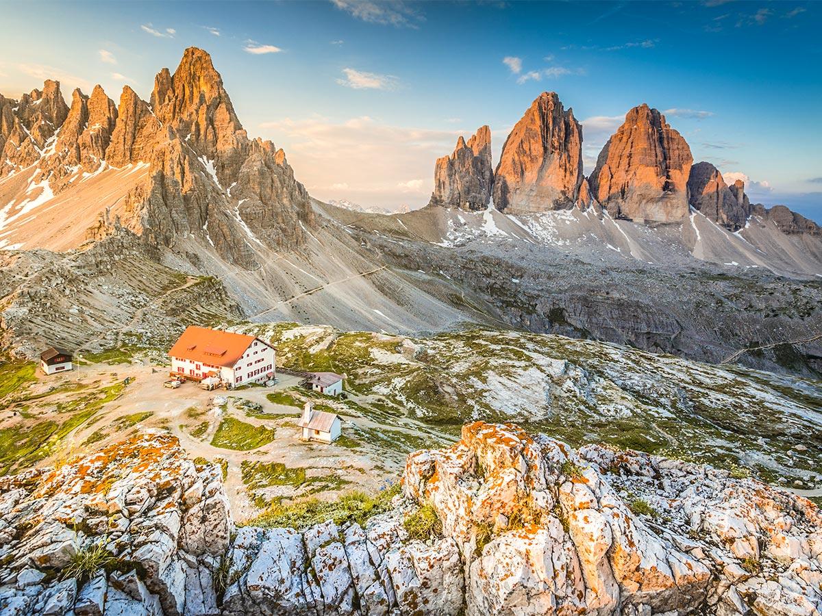 Dolomites Haute Route Trek has beautiful view of Tre Cime di Lavaredo