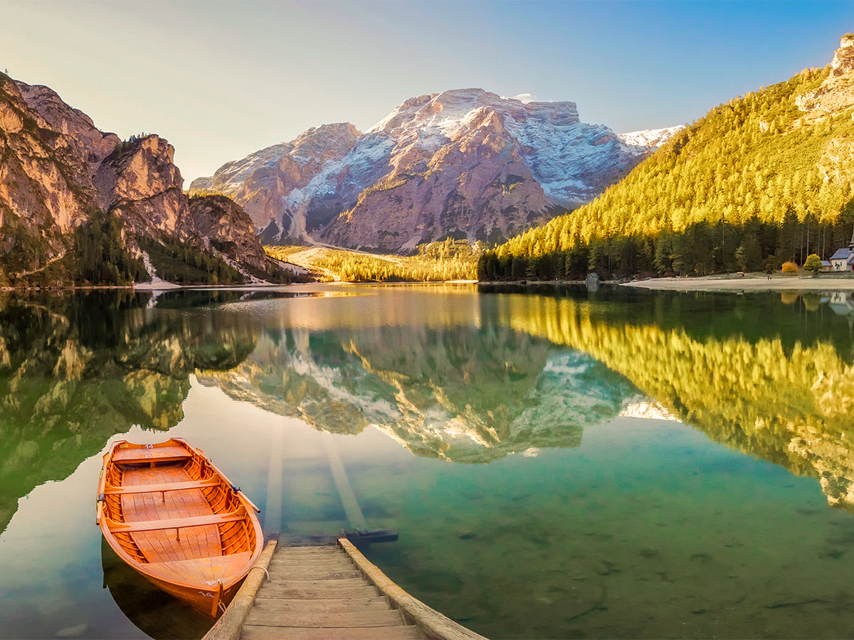 Dolomites Haute Route Trek in Italy is surrounded by beautiful lakes