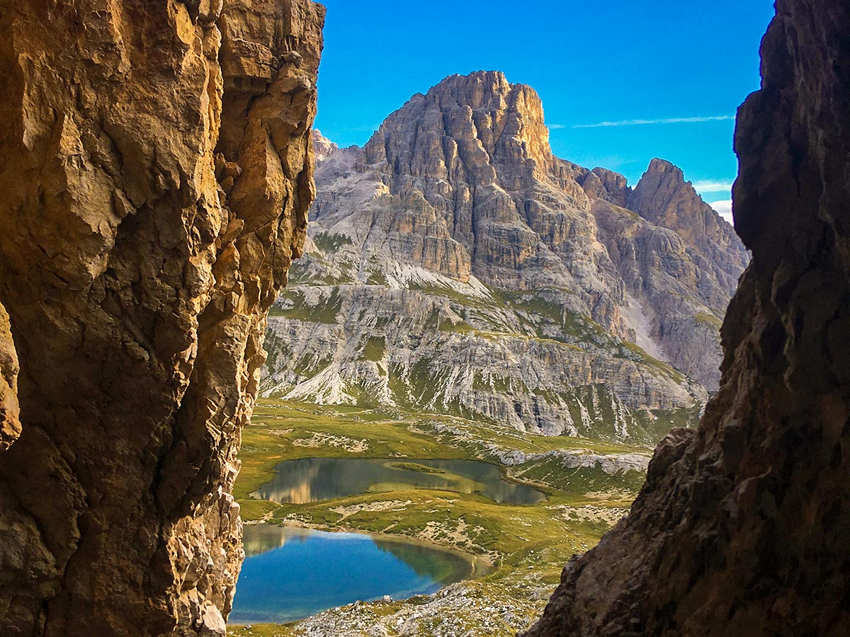 Beautiful mountain views on guided or self-guided Dolomites Haute Route Trek in Italy