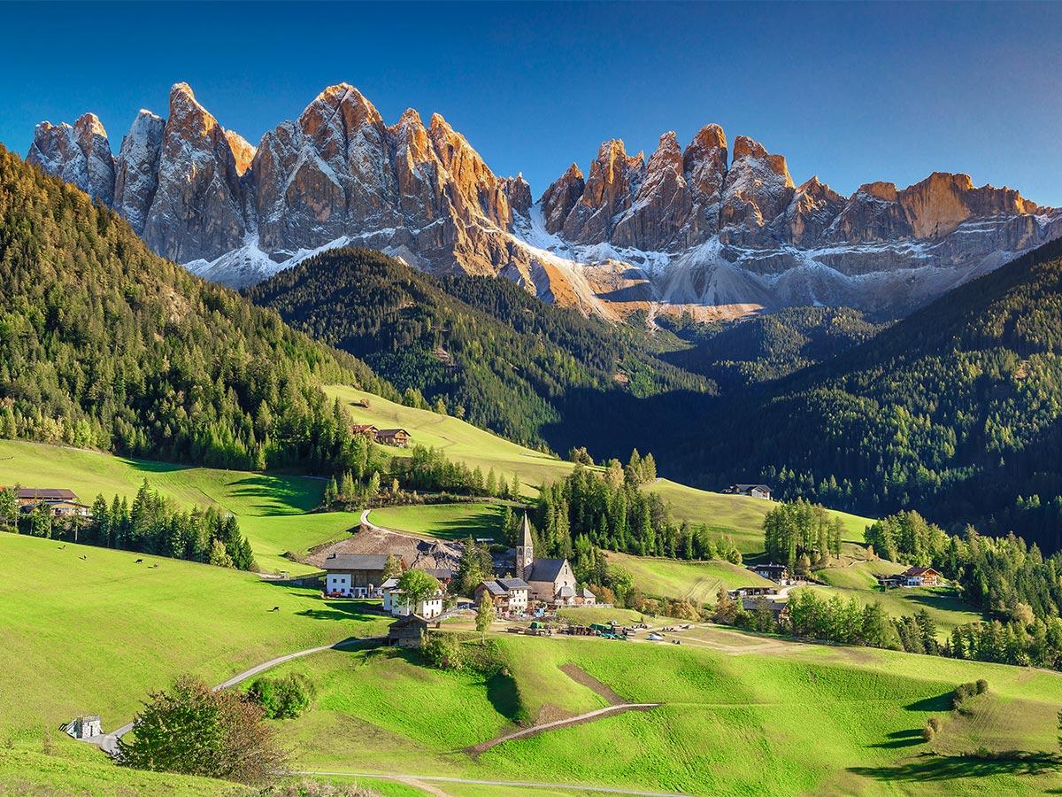 Stunning views on Dolomites Haute Route Trek in Italy