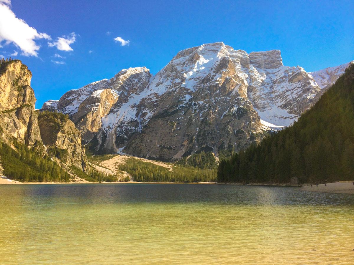 Dolomites Haute Route Trek in Italy passes through several beautiful mountain lakes