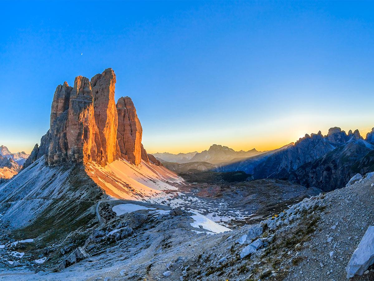 Beautiful views of the Italian Dolomites on Dolomites Haute Route Trek