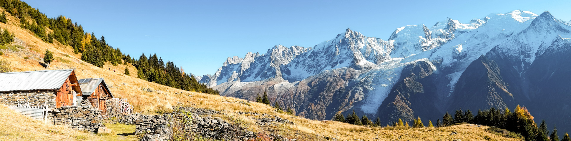Beautiful rifugio and panoramic views on self-guided Tour du Mont Blanc