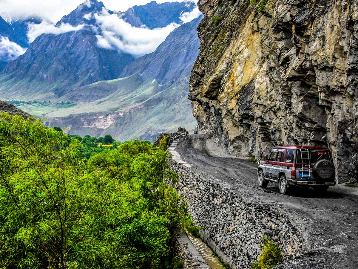 Road to Kalash Valley on Chitral Valley Overland Tour in Pakistan
