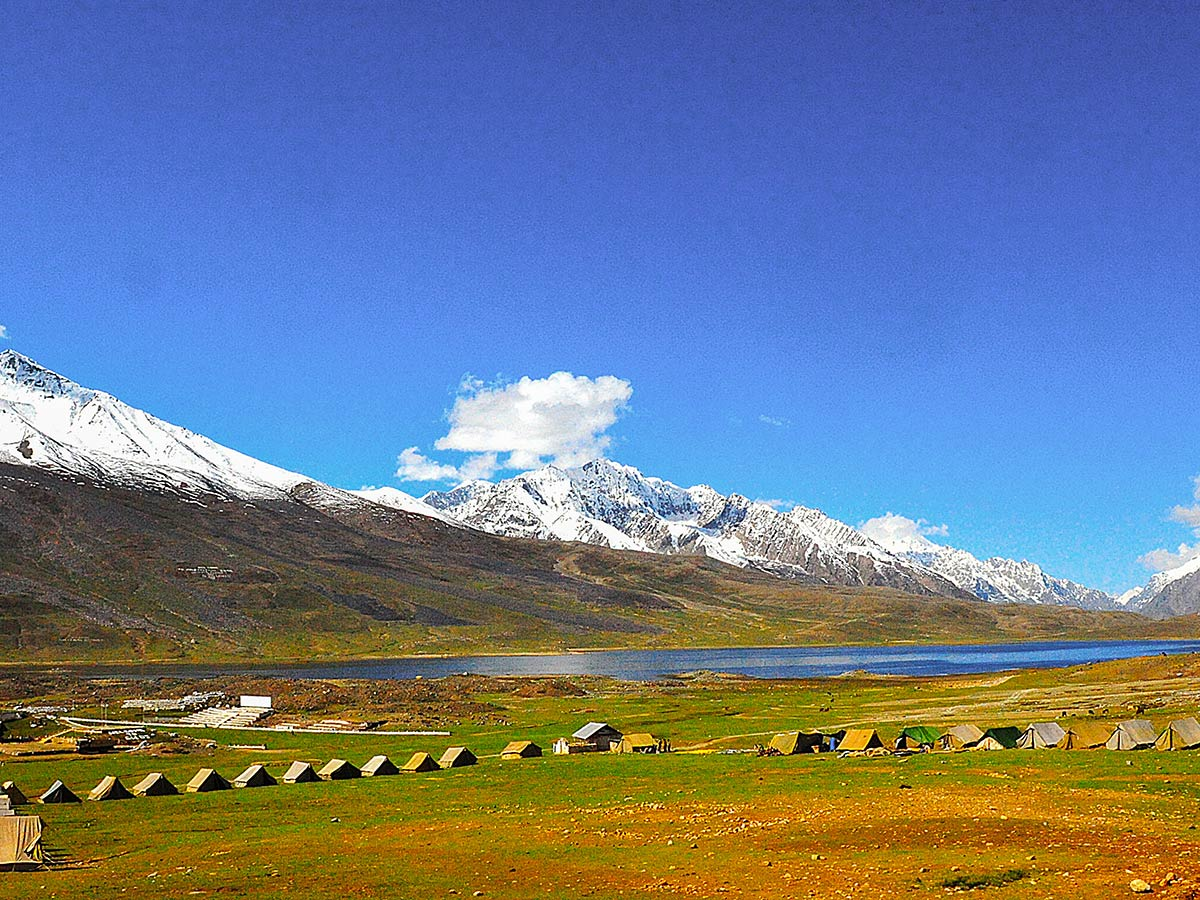 Campsite near Shandur Pass on Chitral Valley Overland Tour in Pakistan