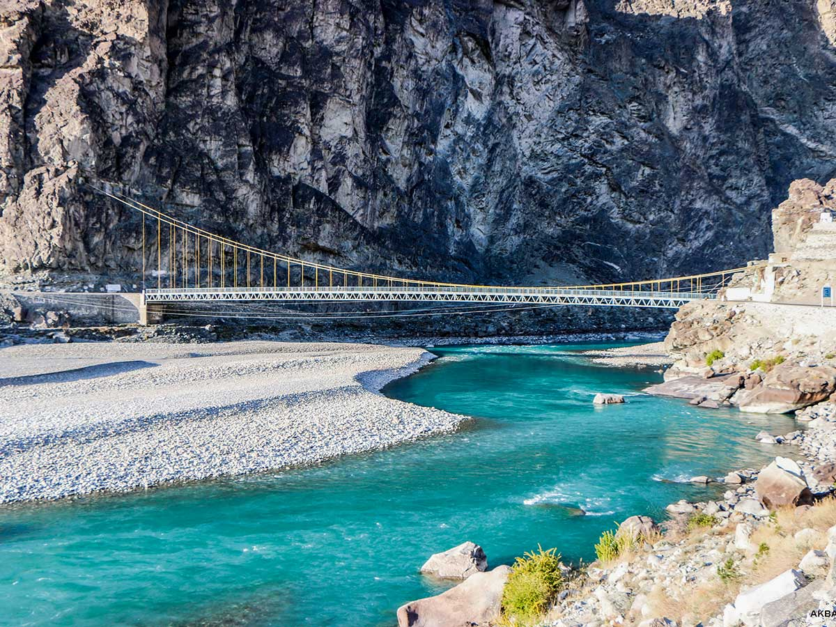 Ghizer River on Chitral Valley Overland Tour in Pakistan