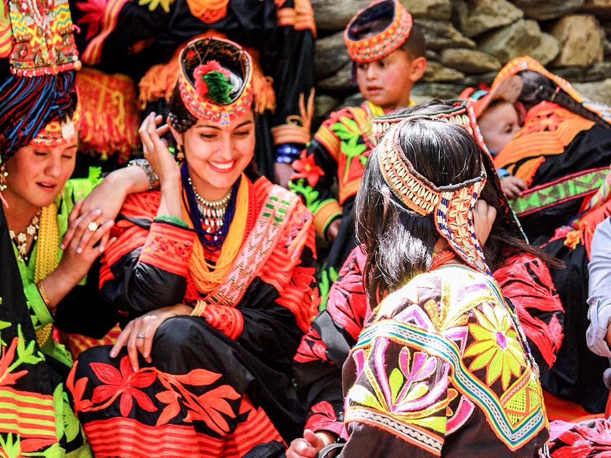 Kalasha People on Chitral Valley Overland Tour in Pakistan