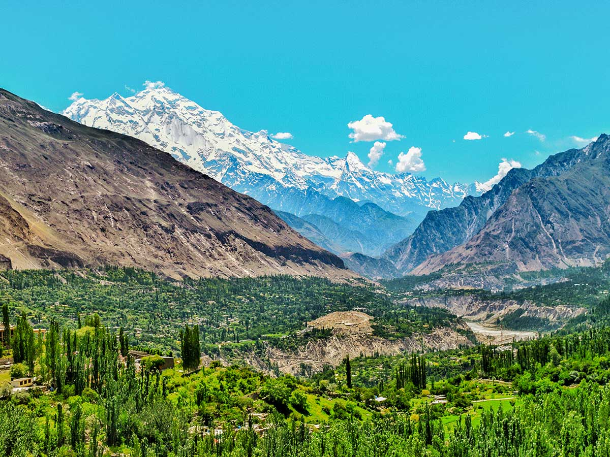 View of Hunza Valley from Eagles Nest on Hanza Valley Overland Tour in Pakistan
