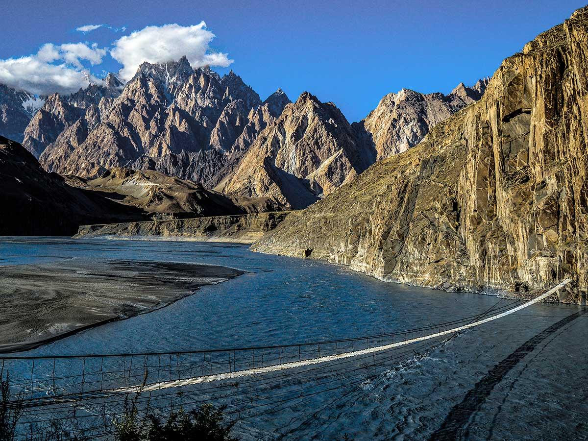 Hussaini Bridge on Hanza Valley Overland Tour in Pakistan