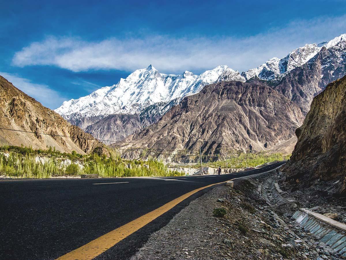 Karakorum Highway on Hanza Valley Overland Tour in Pakistan