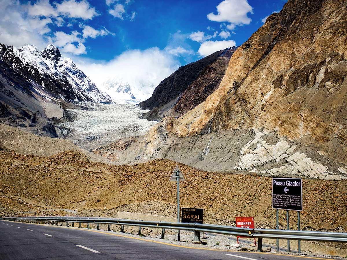 Passu Glacier on Hanza Valley Overland Tour in Pakistan