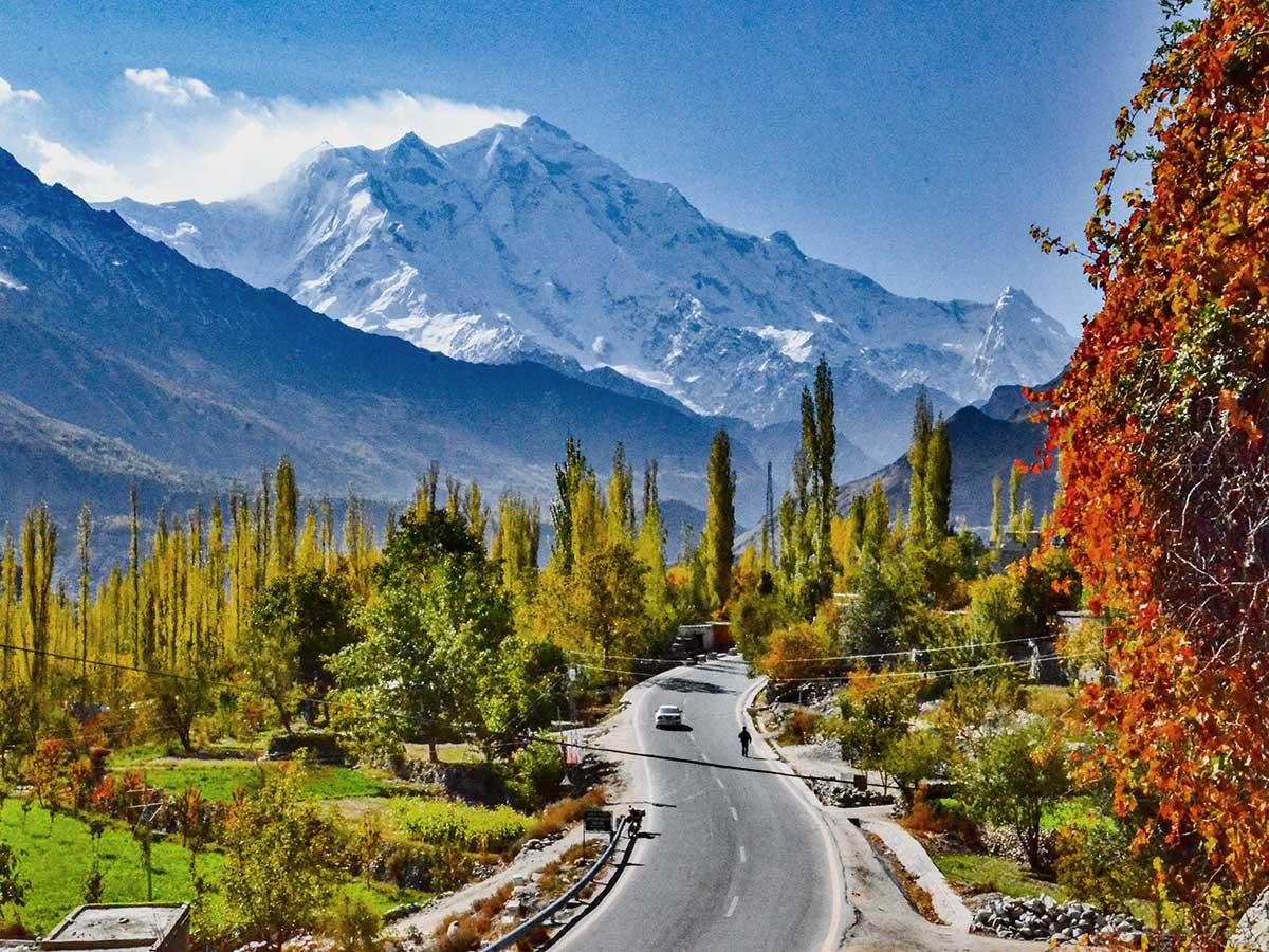 Rakaposhi Mountains on Hanza Valley Overland Tour in Pakistan