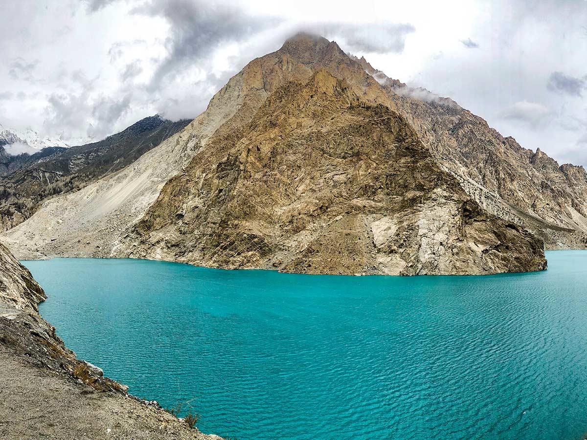 Attabad Lake on Hanza Valley Overland Tour in Pakistan