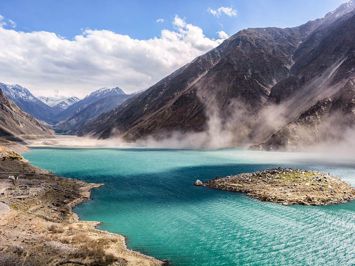 Satpara Lake on guided Overland Tour in Skardu Valley Pakistan