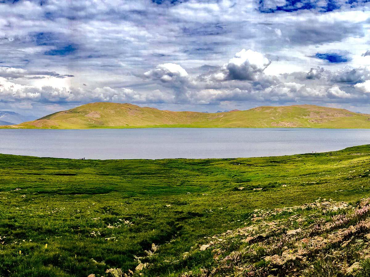 Sheosar Lake in Deosai Valley on guided Overland Tour in Skardu Valley Pakistan