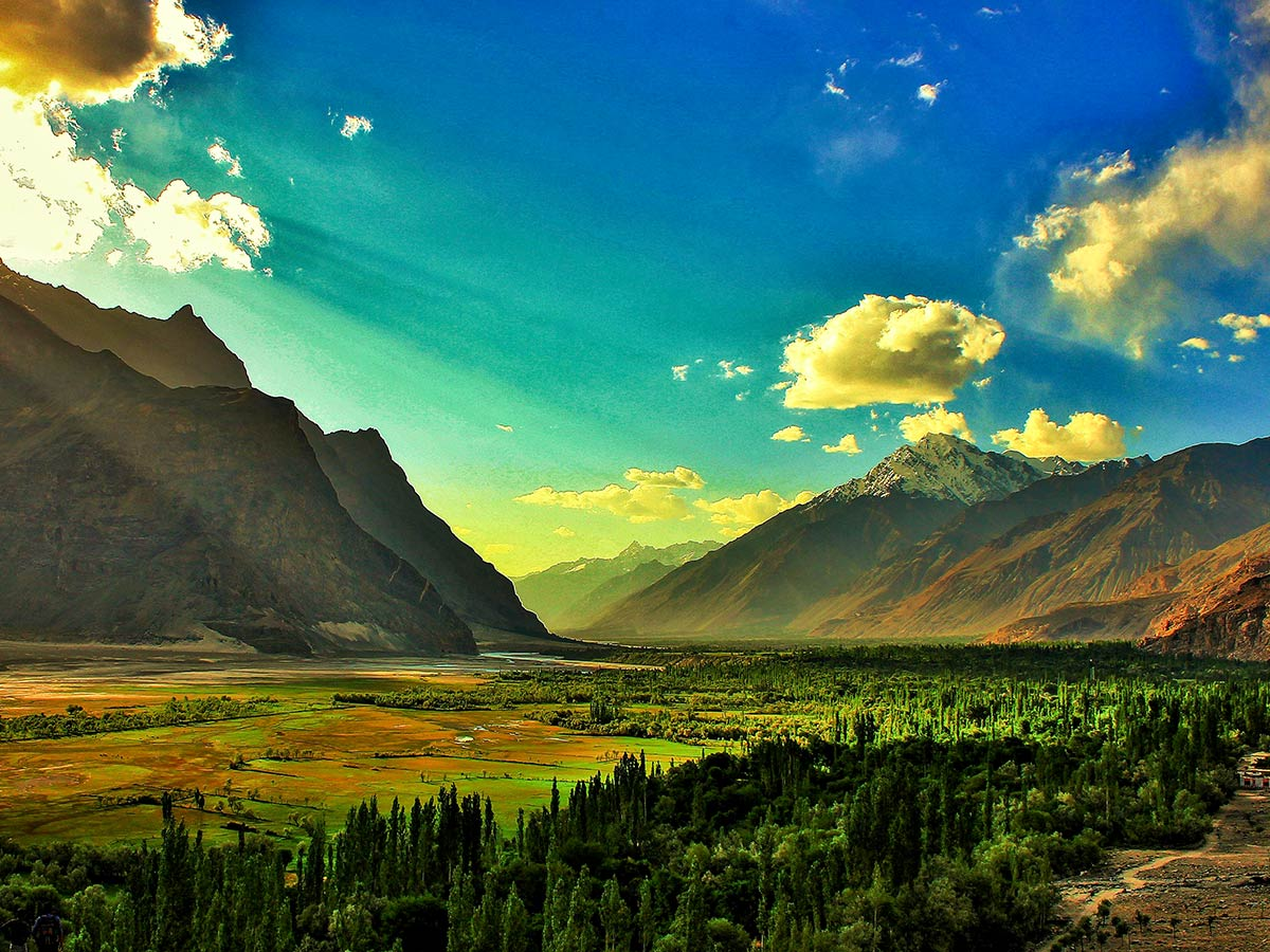 Shigar Valley on guided Overland Tour in Skardu Valley Pakistan