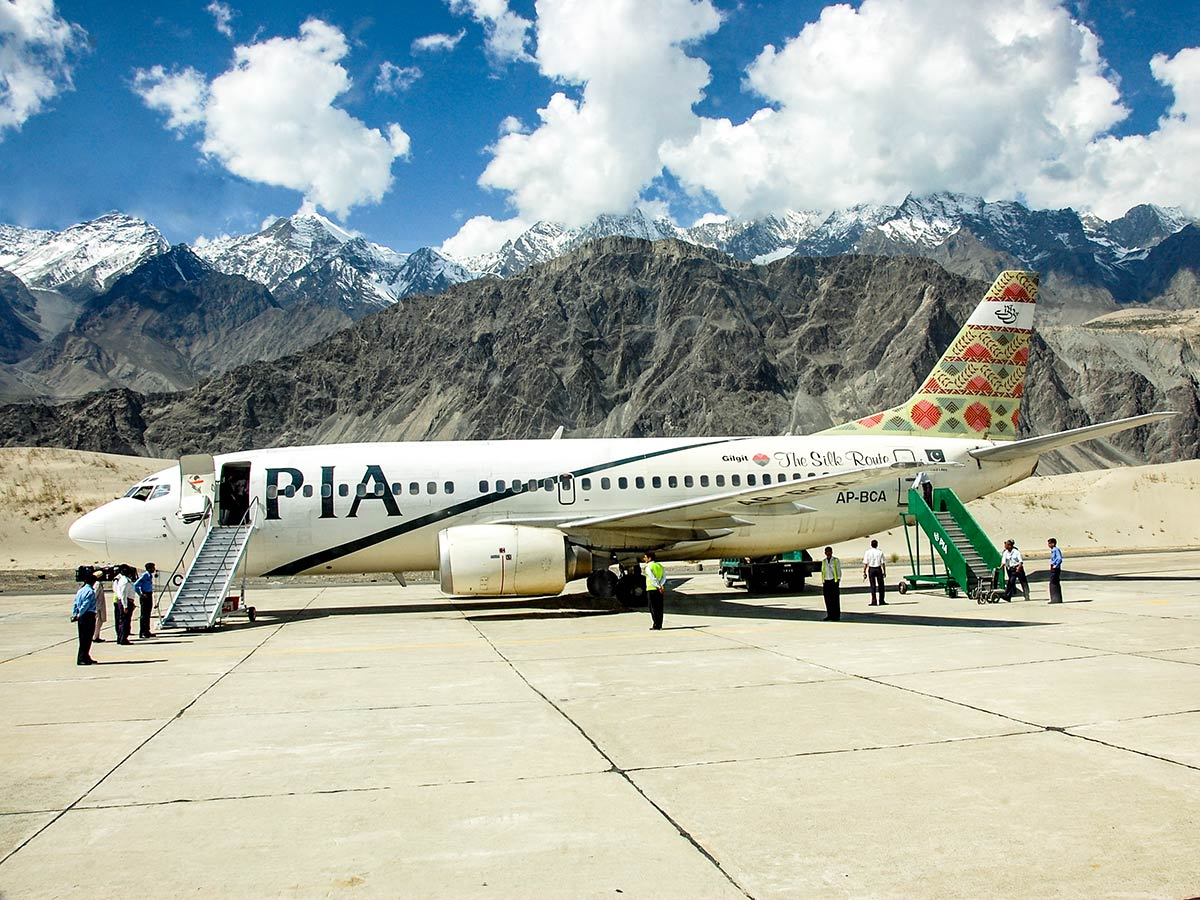Skardu Airport on guided Overland Tour in Skardu Valley