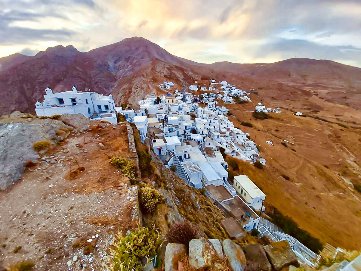 A hill village you may explore on your Greek Sailing holiday