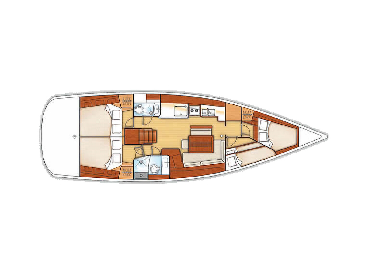 Layout of the Victoria 46 Beneteau