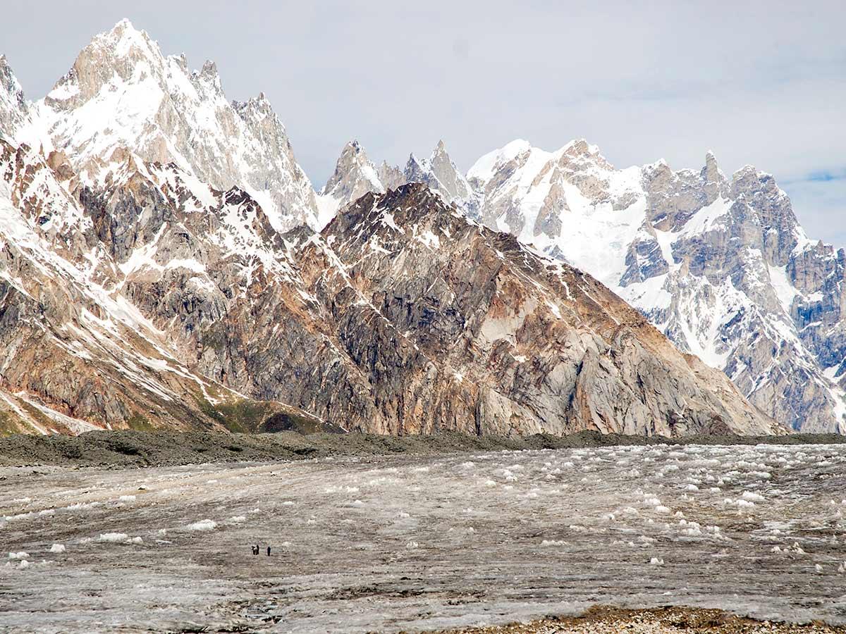 Jagged Peaks along Biafo Glacier
