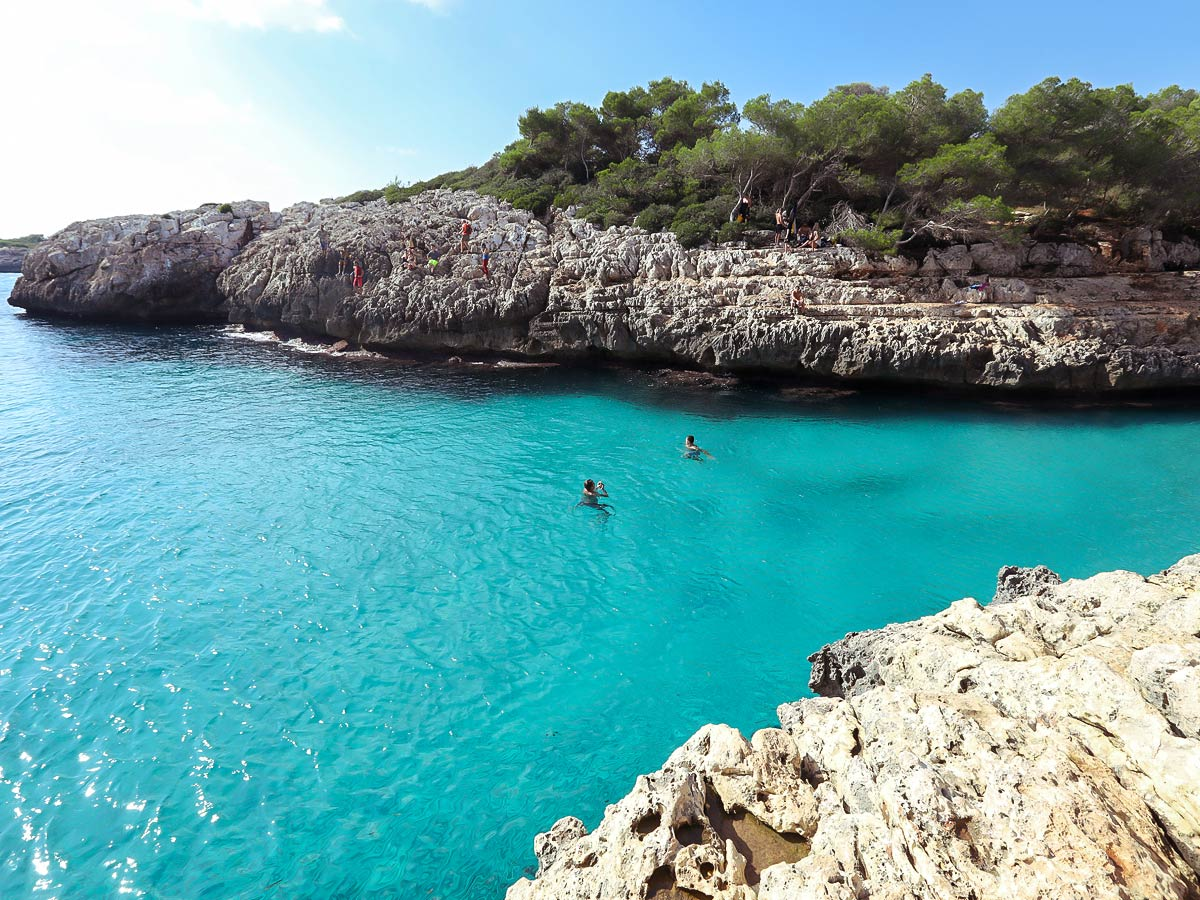 Swimming after the climb on DWS camp in Mallorca