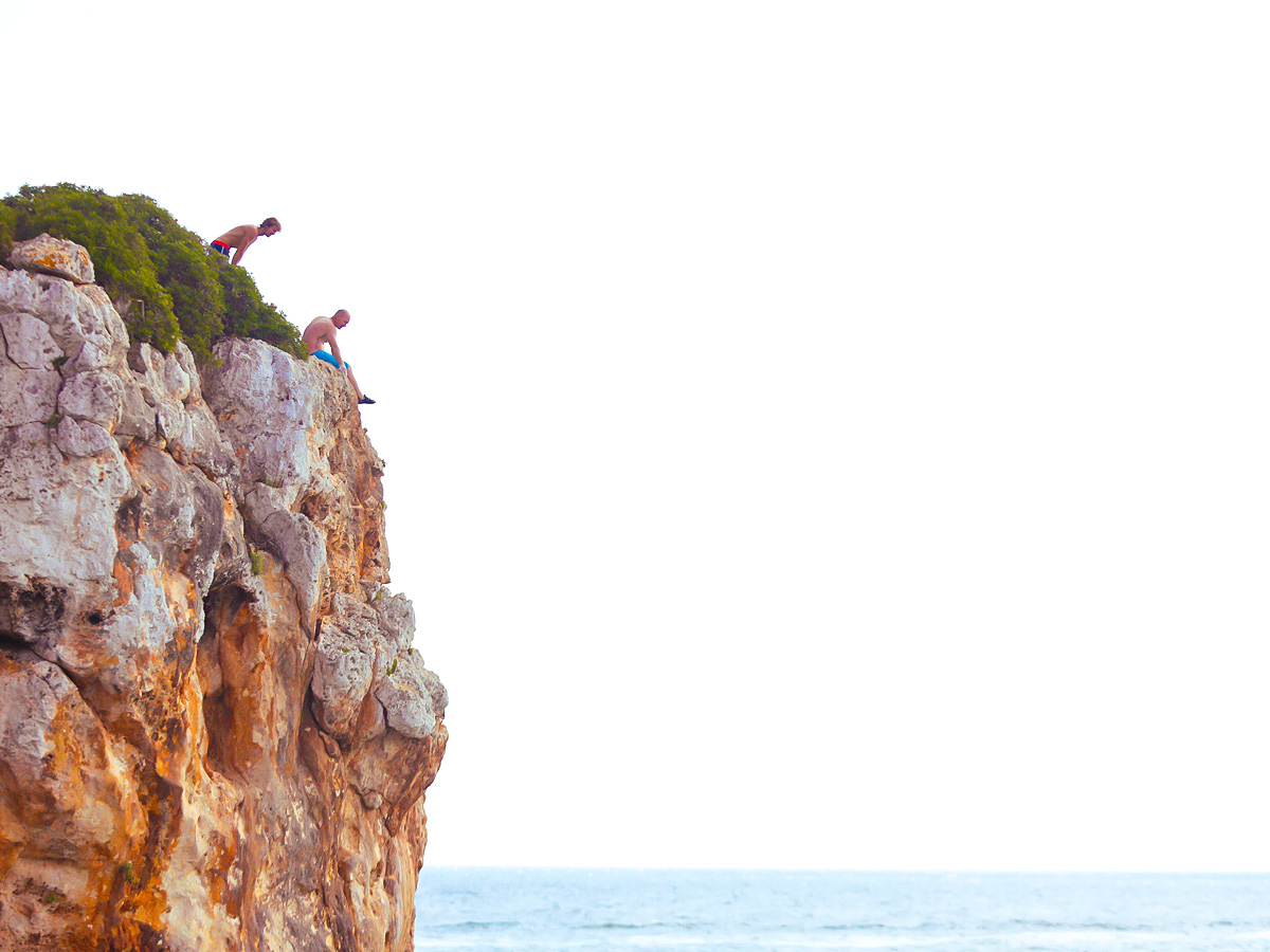 Two climbers on DWS camp in Mallorca