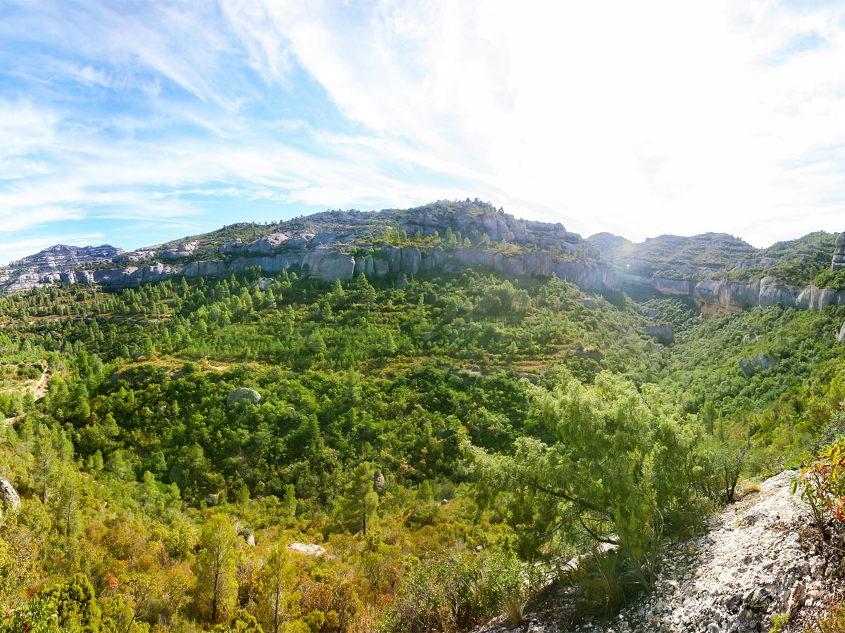 Beautiful views from rock climbing tour in Margalef, Spain