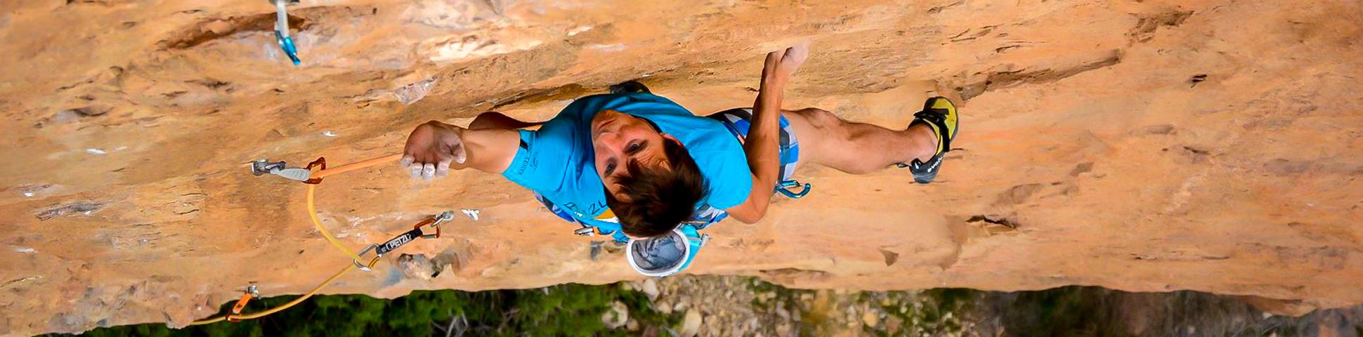 Amazing rock climbing wall in Spain