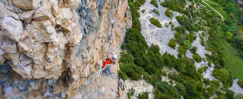 Rock climbing on tour with Klemen Bečan in Rodellar, Spain