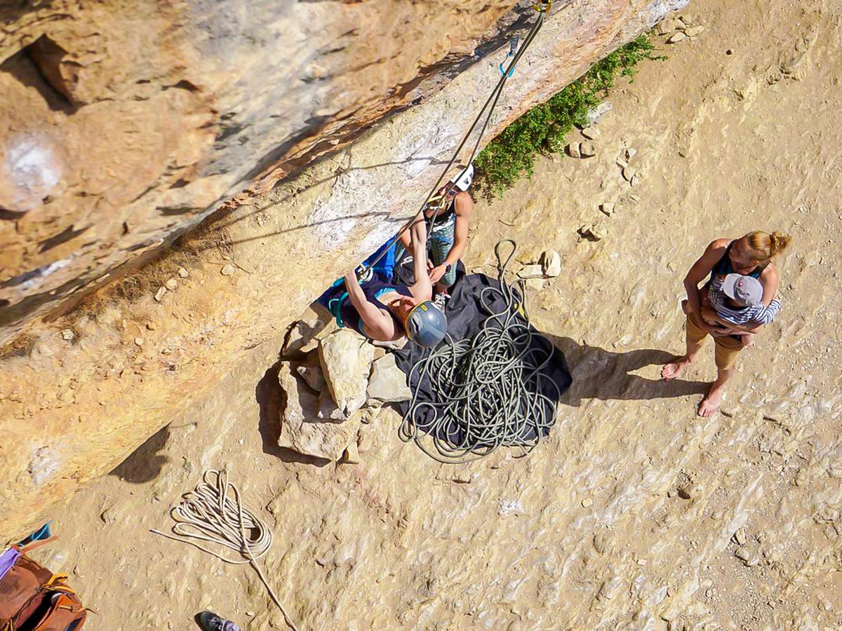 Views from the above on Women's climbing camp in Rodellar, Spain