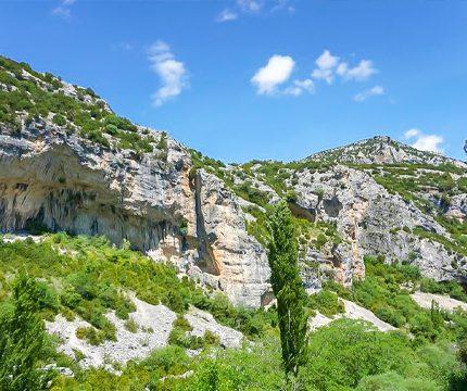 Rock climbing wall in Rodellar on Women's climbing camp in Rodellar, Spain