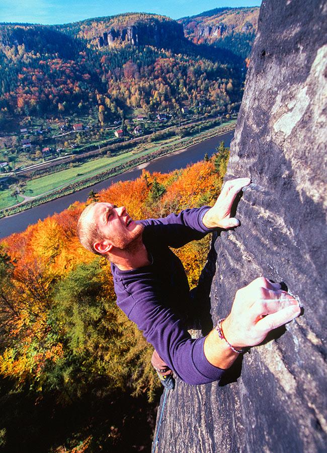 Climbing near Labske Udoli rewards with beautiful views