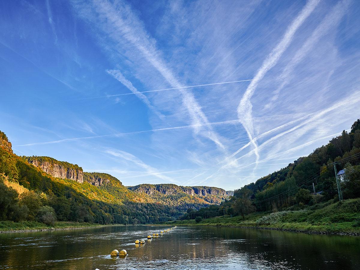 Beautiful river in Czech Republic on rock climbing tour in Labske Udoli
