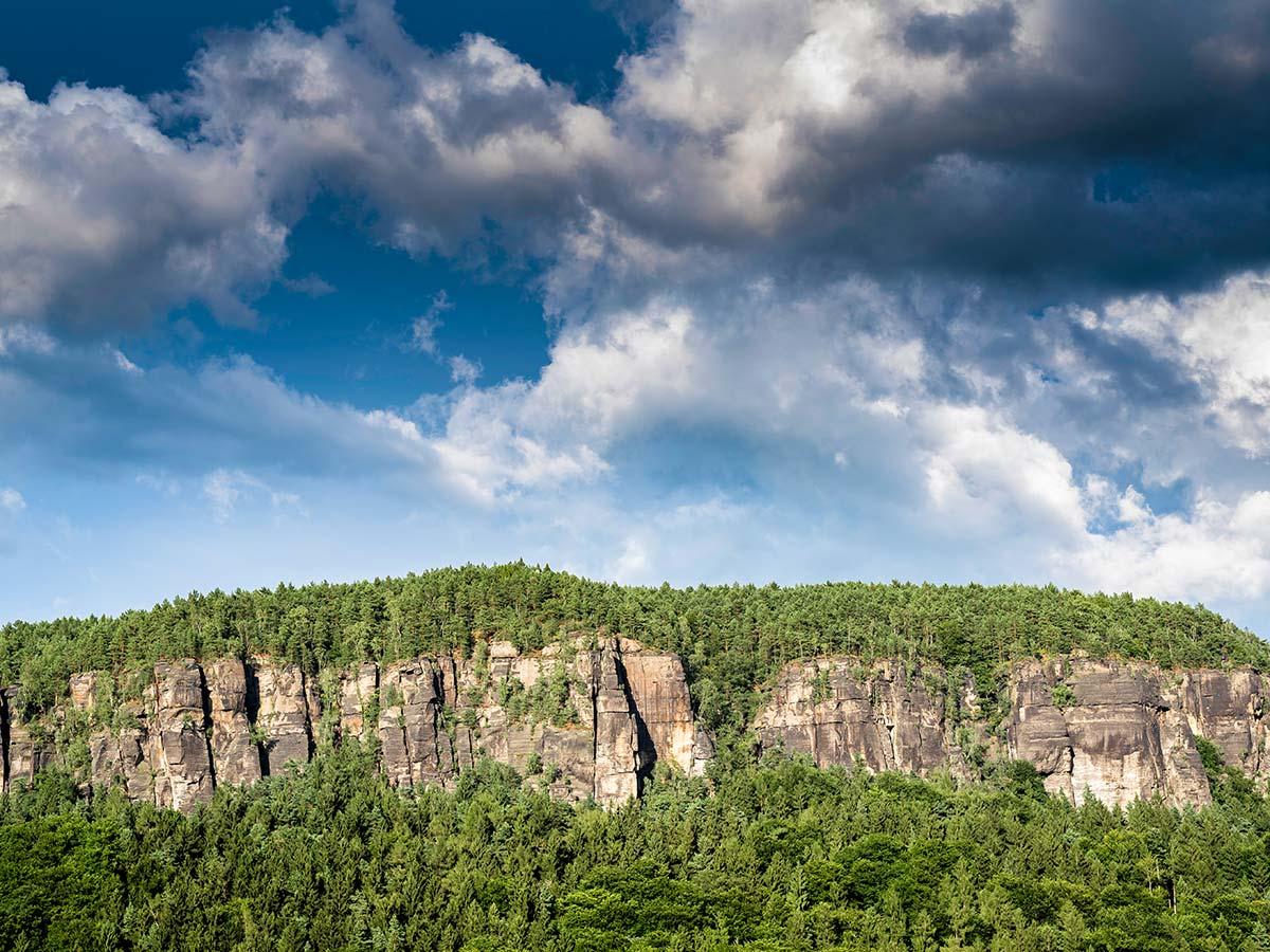 Rock walls in Labske Udoli, Czech Republic