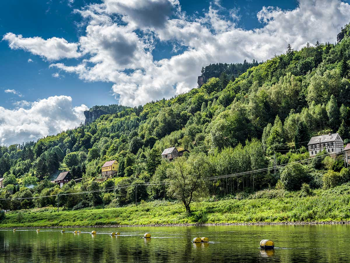 Beautiful villages along the river on Labske Udoli climbing camp