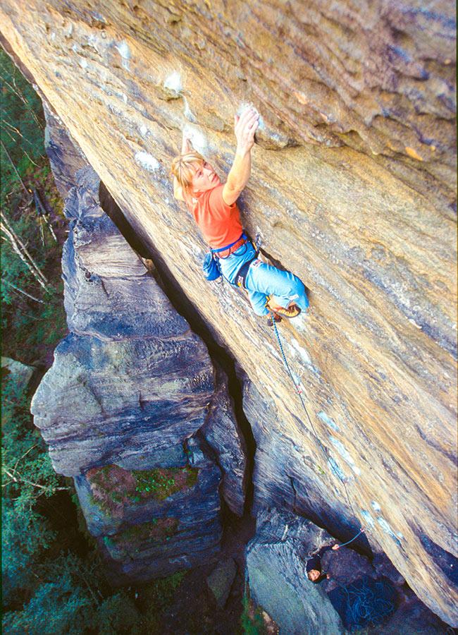 Woman on rock climbing tour in Czech Republic