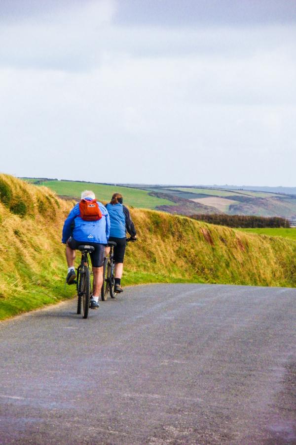 Cornwall Cycling bikes on road