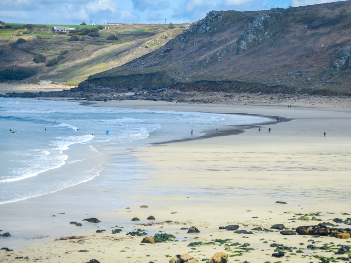 Cornwall beach coastline