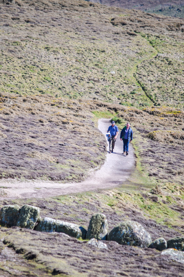 Cornwall walking along path
