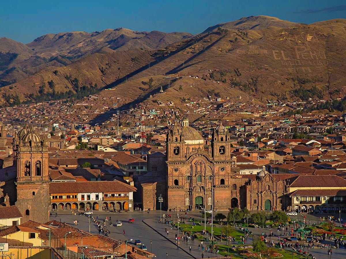 Beautiful city of Cusco on Salkantay Trek to Machu Picchu in Peru