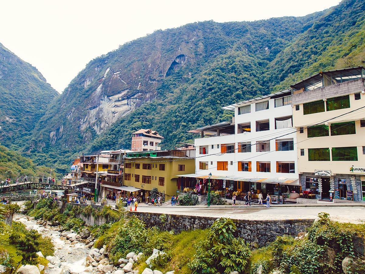 Aguas Calientes village on Salkantay Trek to Machu Picchu in Peru
