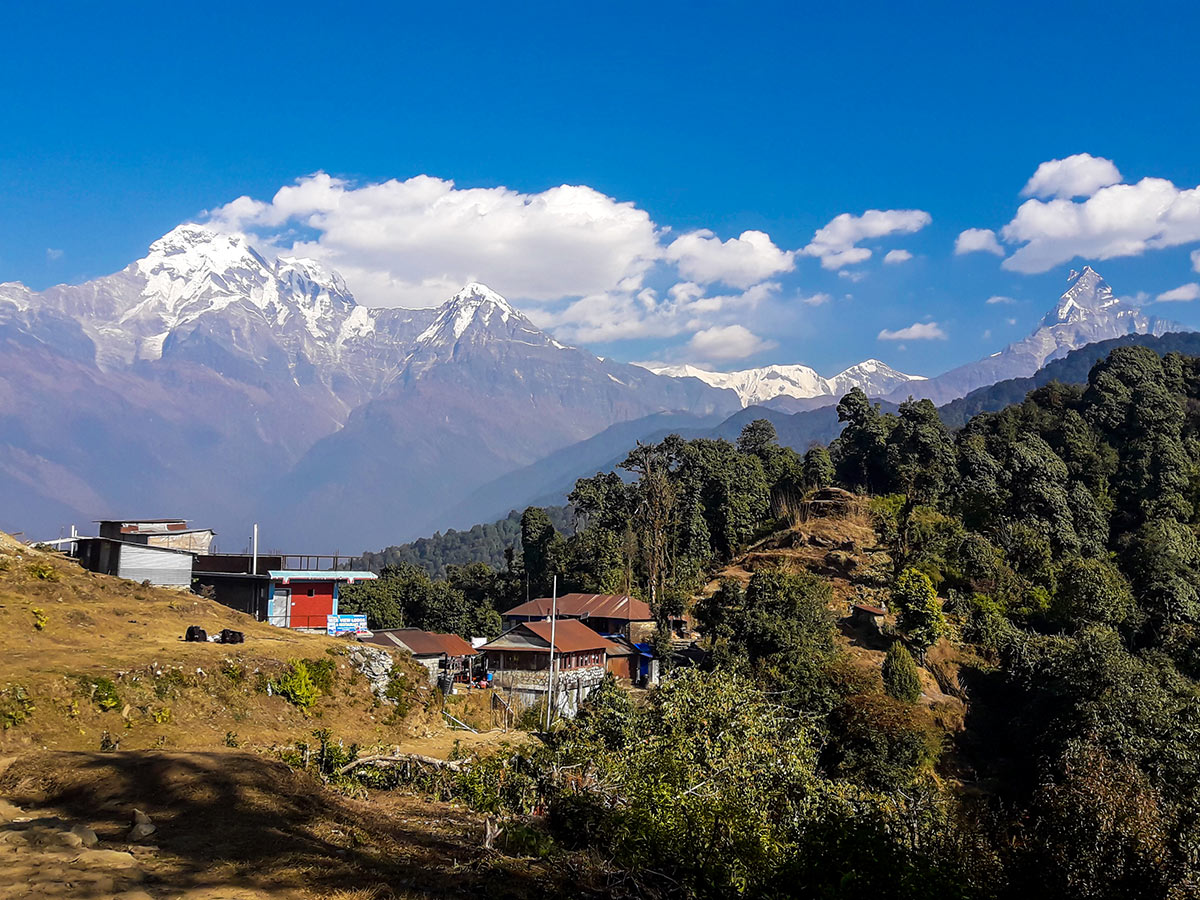 Amazing views on Annapurna Base Camp Guided Trek in Nepal