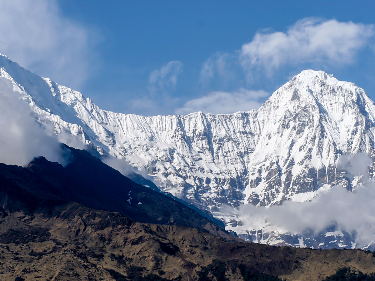 Annapurna Massif looks stunning on Annapurna Base Camp Guided Trek in Nepal