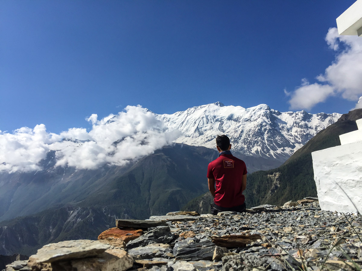 Guided Annapurna Circuit hike in Nepal has amazing views of Himalayas