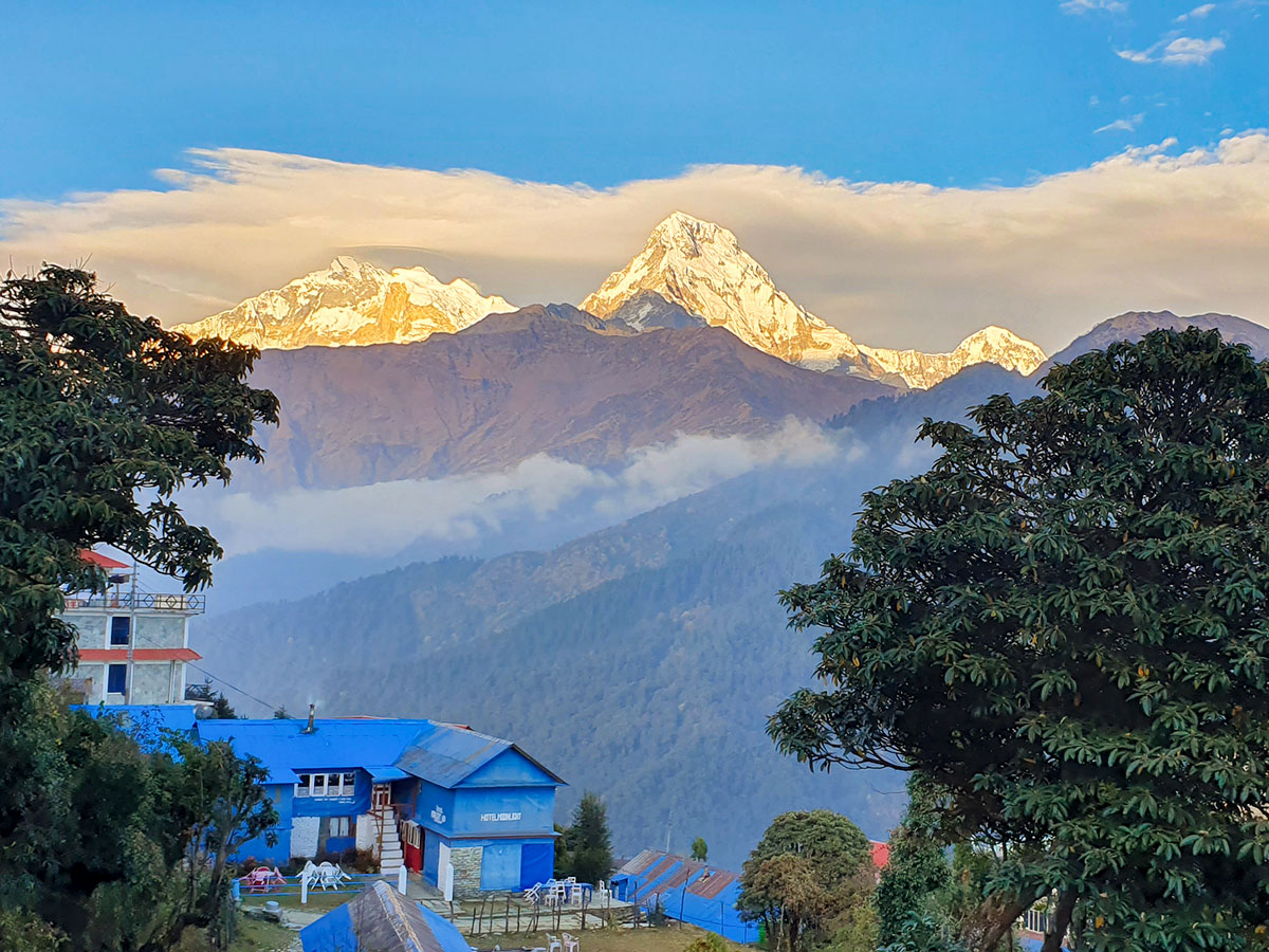 Stunning mountain views on Annapurna and Everest Luxury Lodge Trek