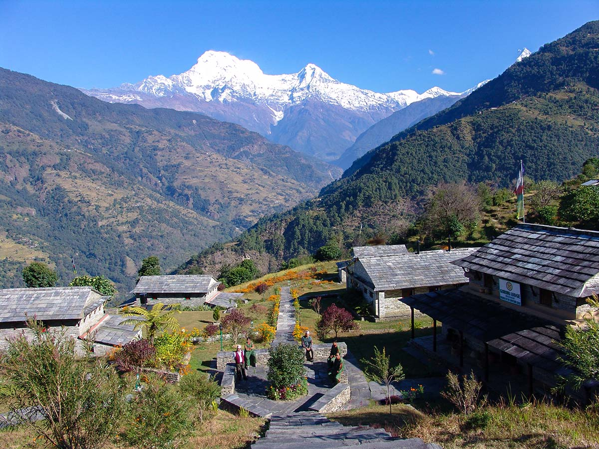 Stunning views near Gurung Lodge on Annapurna and Everest Luxury Lodge Trek