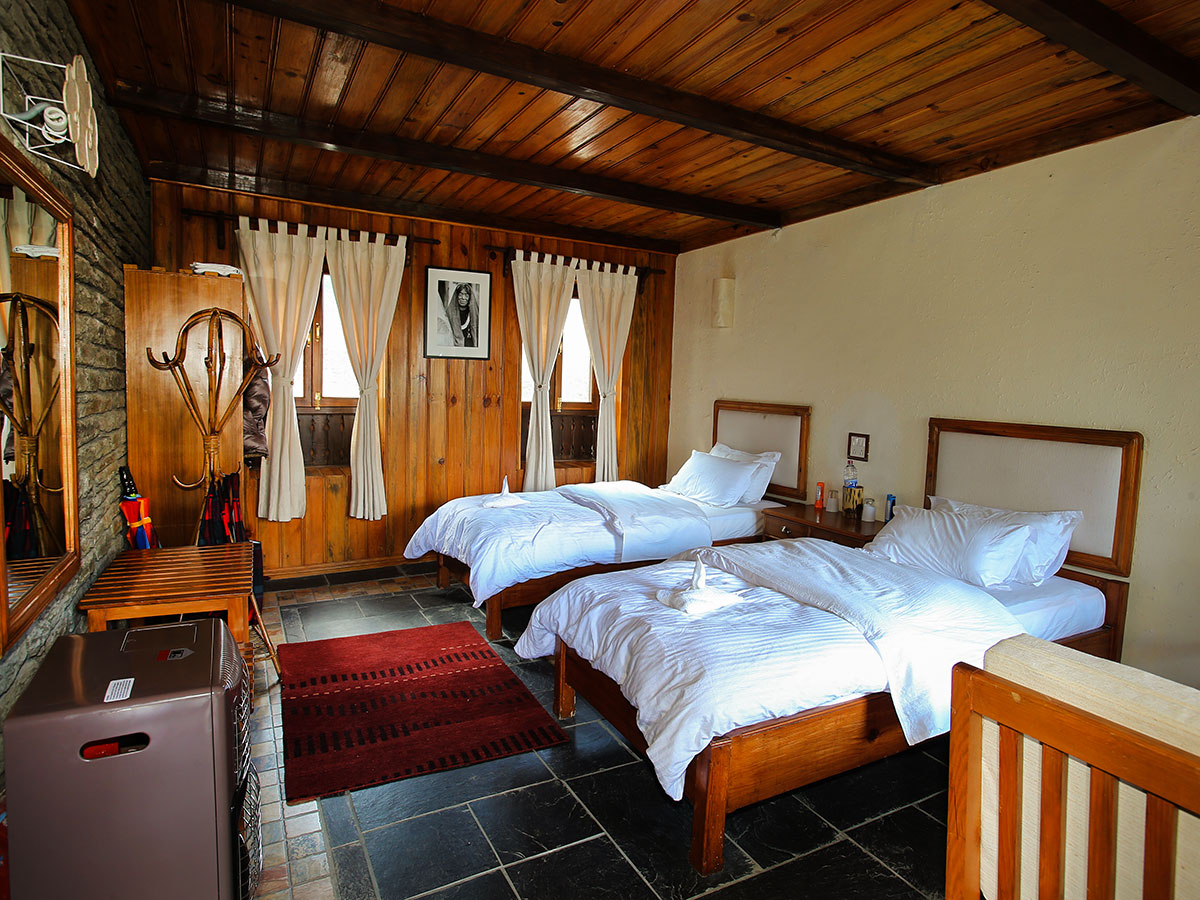 Beautiful room in one of luxurious lodges on Annapurna and Everest Luxury Lodge Trek